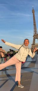Me in front of the Eiffel Tower